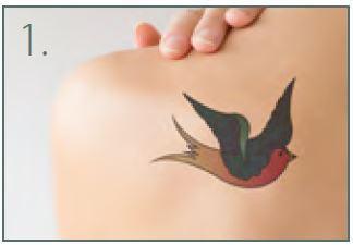 Tatuajes de tinta de color
